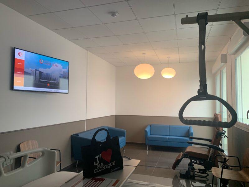 Une ouverture avec les toutes nouvelles télévisions connectées équipées de la dernière génération des solutions EONA : TEVEO SANTE.